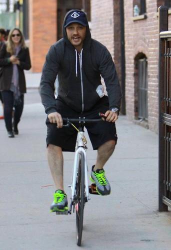 Tom pinches a Pap's bike!!!