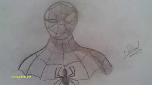 Ultimate Spiderman Portrait Sketch