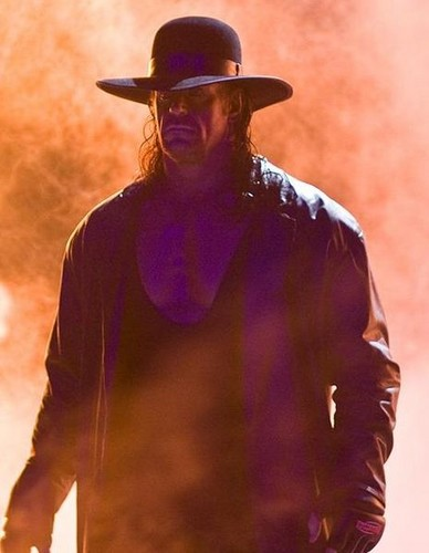 Undertaker achtergrond containing a fedora and a boater called Undertaker