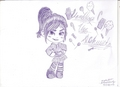 Vanellope Sketch~ - wreck-it-ralph fan art