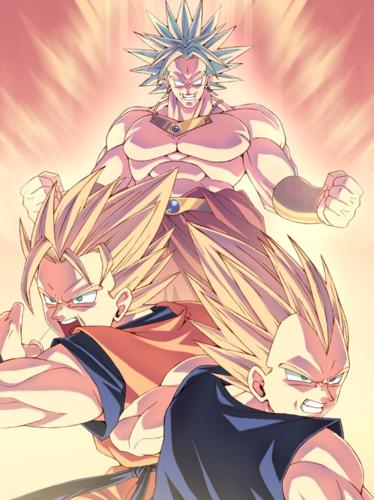 Dragon Ball Z wallpaper titled Vegeta/Goku VS Broly