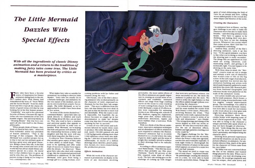 Walt disney artikel - StoryBoarD artikel (The Little Mermaid)