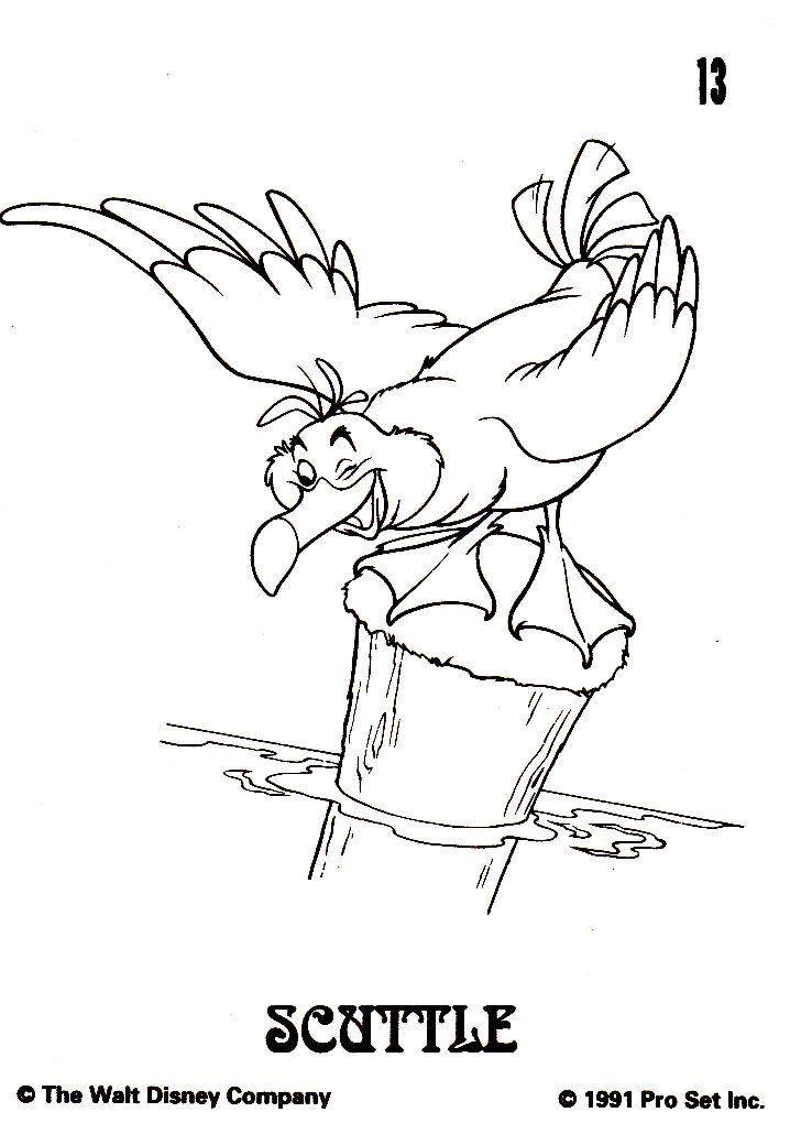 Scuttle And Flounder Coloring Pages