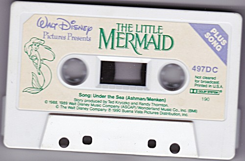 Walt Disney Cassette Tapes - The Little Mermaid