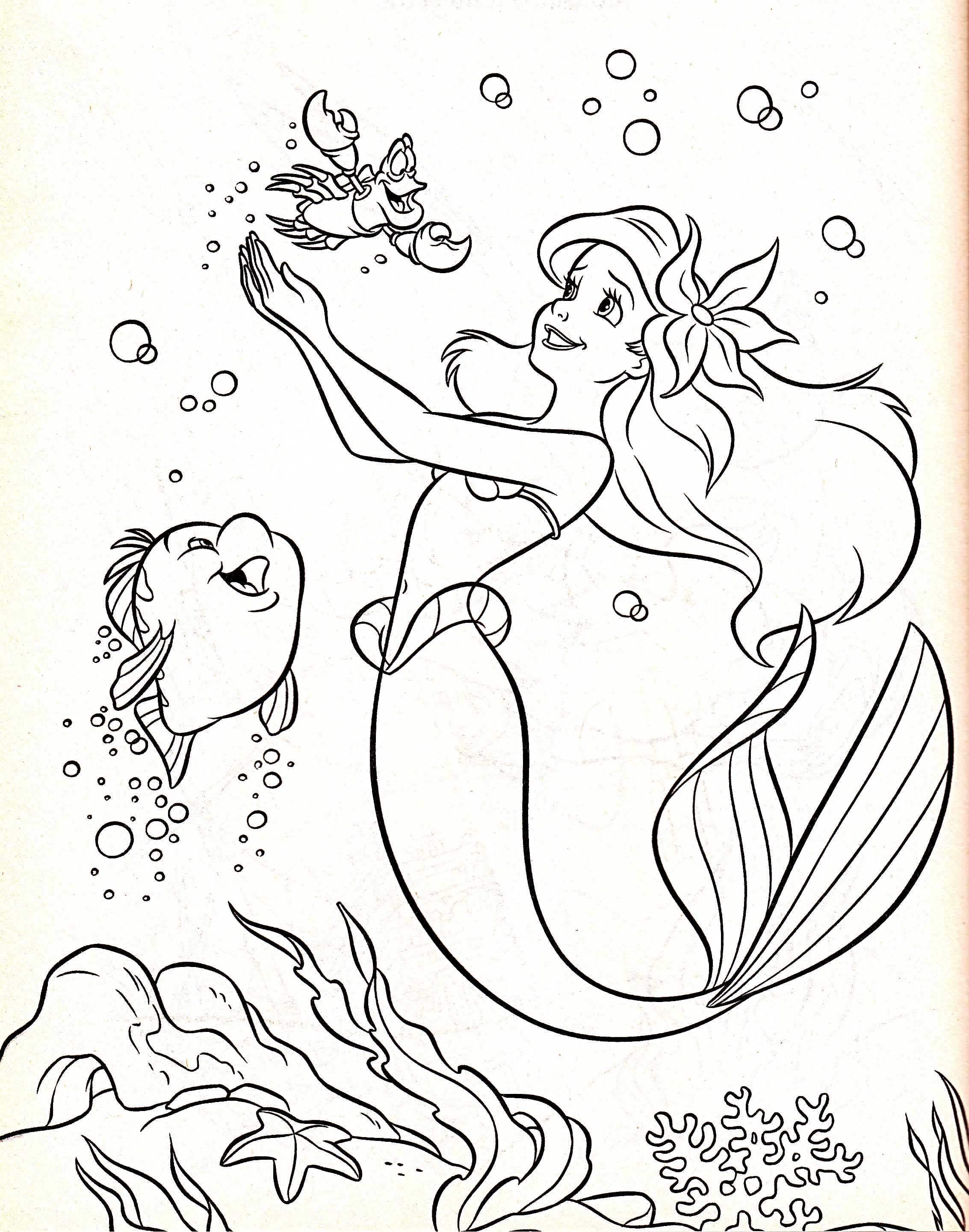 Baby Ariel Coloring Coloring Pages