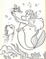 Walt ডিজনি Coloring Pages - Flounder, Sebastian & Princess Ariel