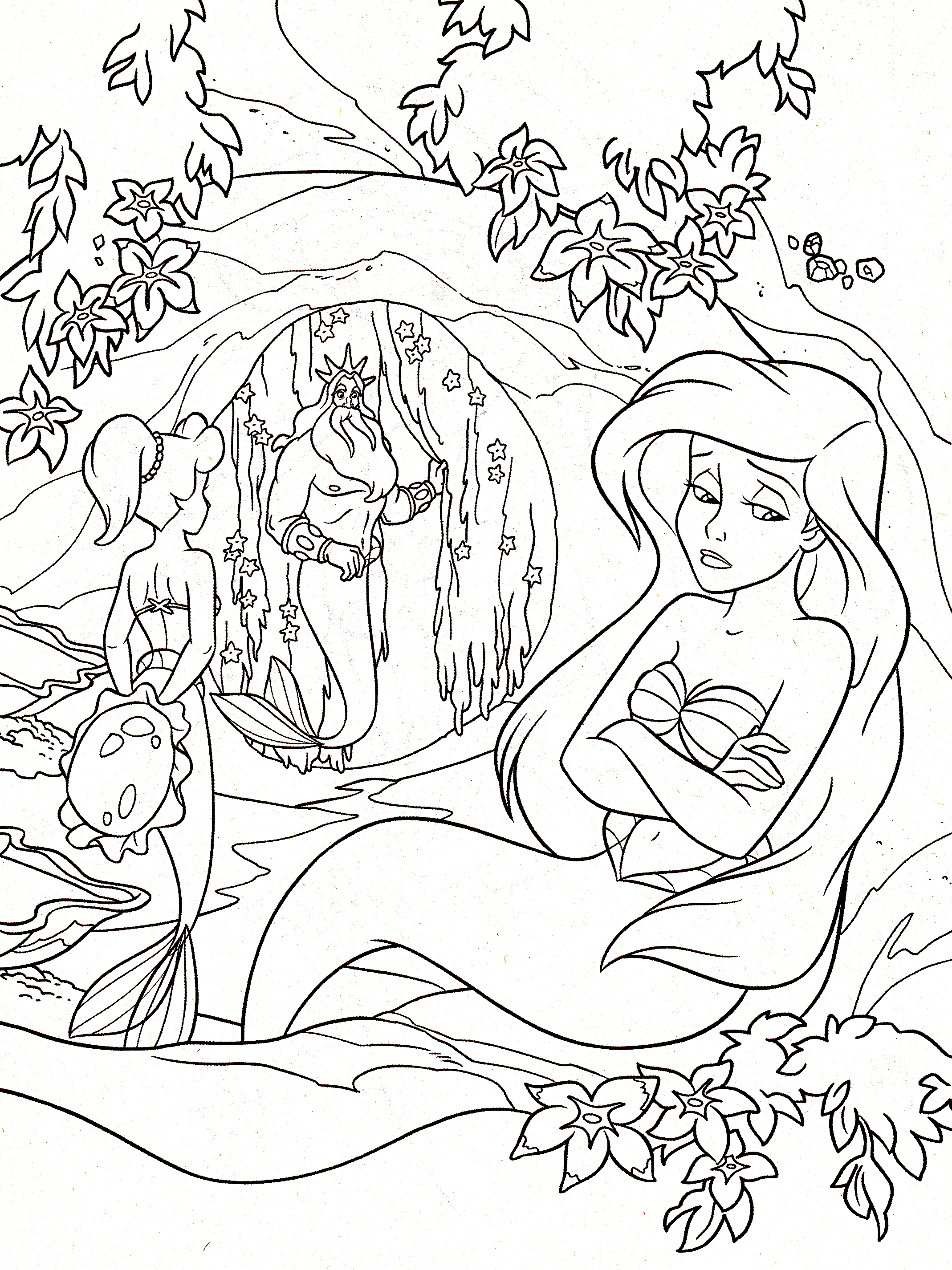 Walt Disney Coloring Pages - Princess Aquata, King Triton ...