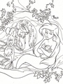 Walt 디즈니 Coloring Pages - Princess Aquata, King Triton & Princess Ariel