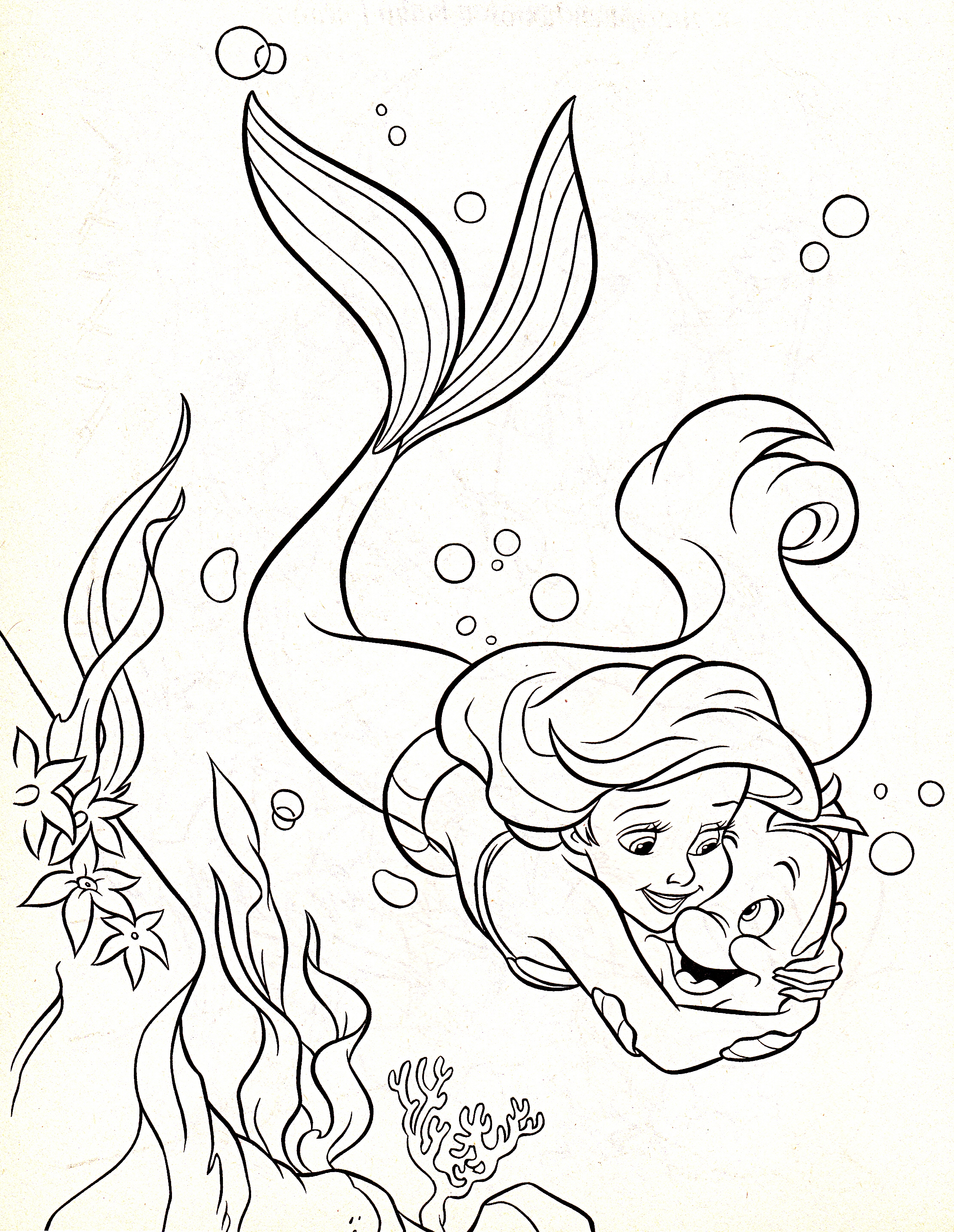ariel coloring pages characters - photo#20