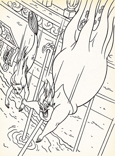 Walt disney Coloring Pages - Princess Ariel & Ursula