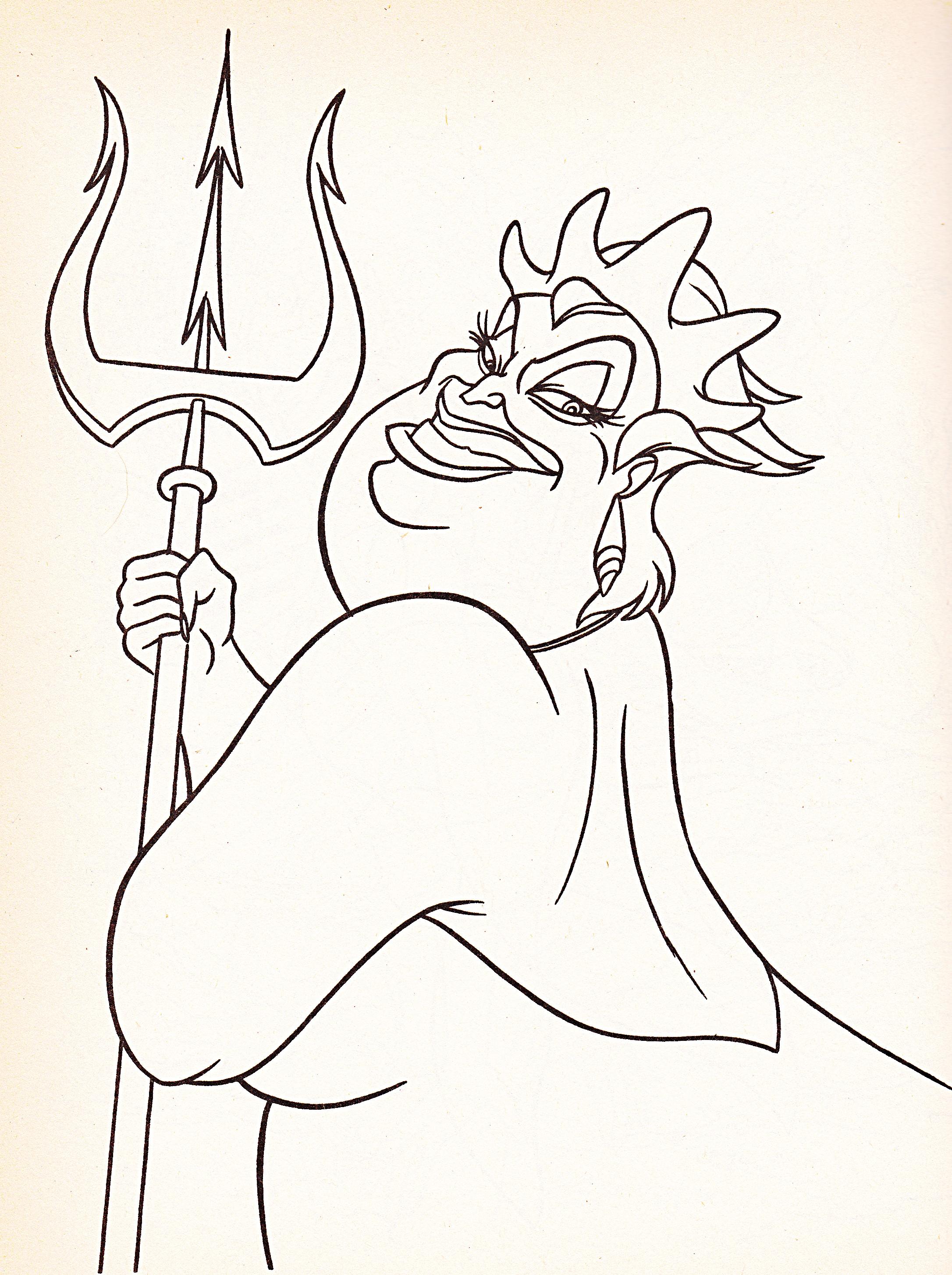 Disney Ursula Coloring Pages : Walt disney coloring pages ursula