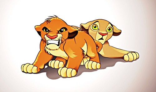 Walt Disney fan Art - Simba & Nala