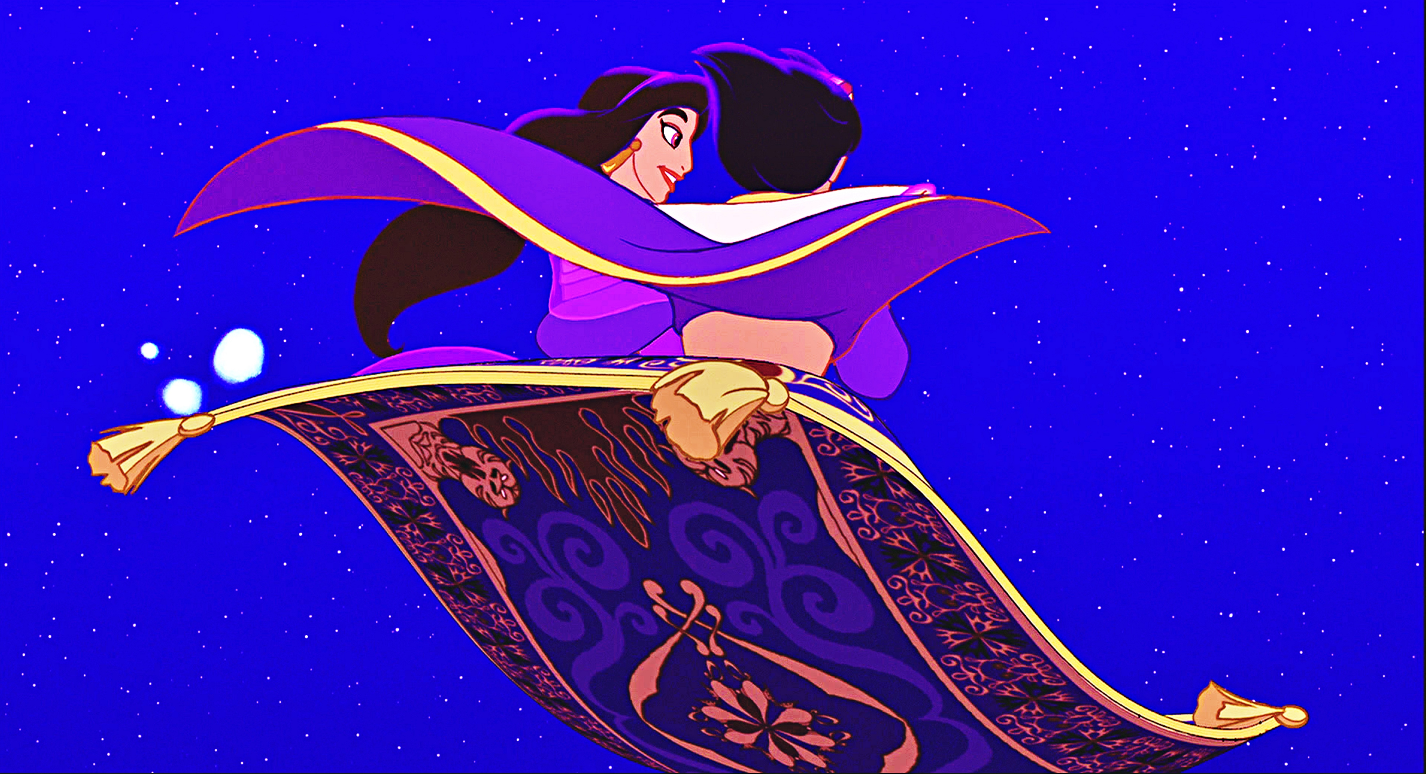 Walt disney characters images icons wallpapers and for Aladdin and jasmine on carpet wallpaper