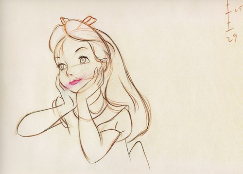 Walt ディズニー Sketches - Alice