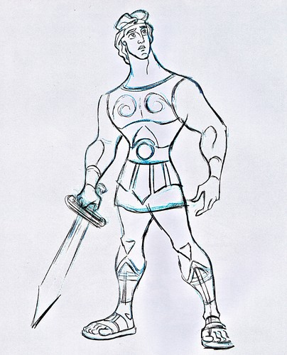 Walt disney Sketches - Hercules