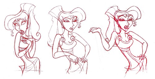 Walt Disney Sketches - Megara