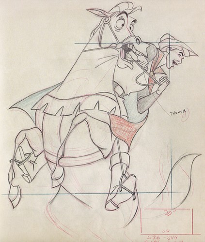 Walt Disney Sketches - Samson & Prince Phillip