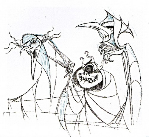 Walt disney Sketches - The Three Fates