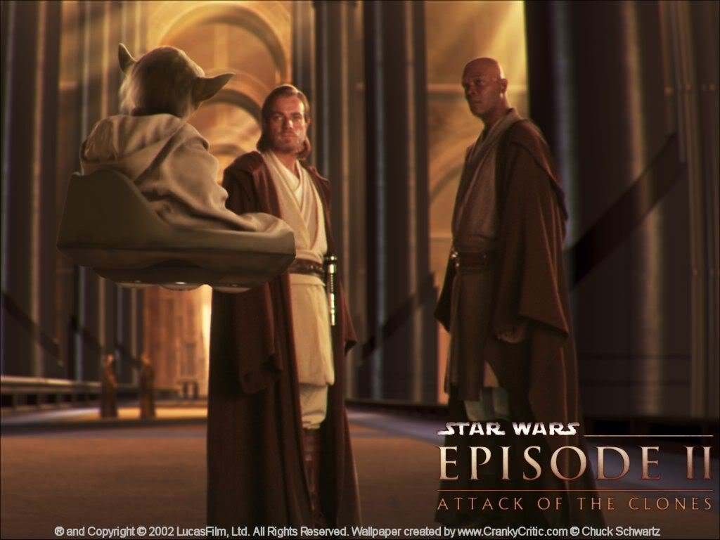 Star Wars Attack Of The Clones Images Yoda Obi Wan And Mace Windu