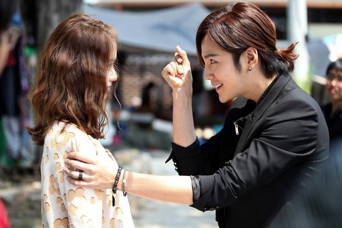 kpop 4ever wallpaper probably containing a street and a business suit entitled Yoona Love Rain