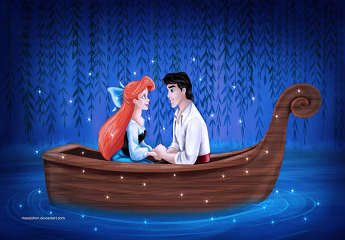 Ariel and Eric wallpaper titled ariel and eric