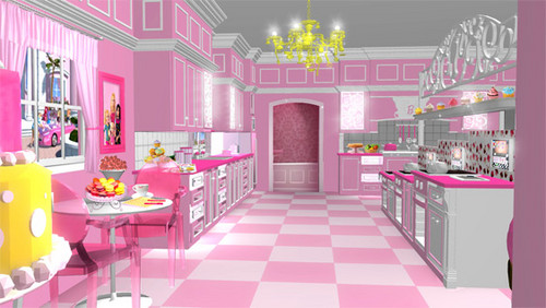 Barbie فلمیں پیپر وال containing a drawing room, a parlor, and a living room called barbie new house