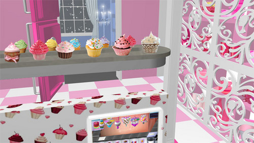 filmes de barbie wallpaper possibly containing a dressing mesa, tabela and a living room titled barbie new house