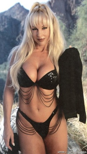 Former WWE Diva... Debra achtergrond possibly containing a bikini entitled debra raw magazine