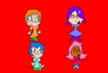 funny oona and molly mad nonny and gil - bubble-guppies fan art