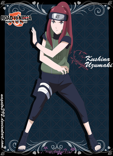 Naruto Shippuuden fond d'écran with animé called kushina