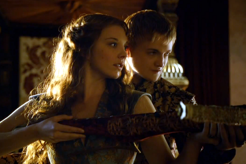 Margaery Tyrell kertas dinding entitled margaery and joffrey