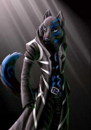 normal blue demon lobo