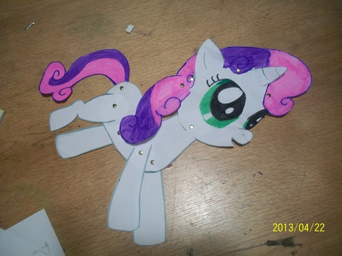paper toy sweetie belle