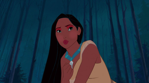 pocahontas' earth-tone look