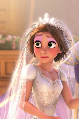 rapunzel's wedding look