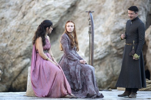 sansa and shae with petyr
