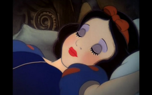 snow white's sleeping beauty look