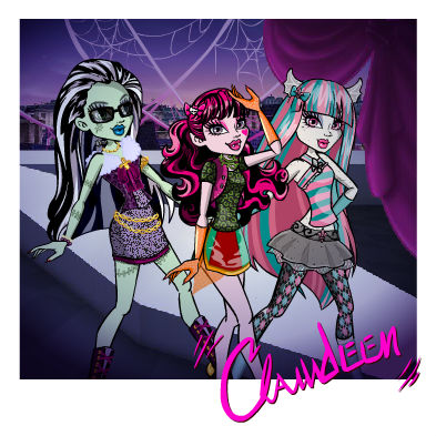 Monster High wallpaper containing anime titled stien