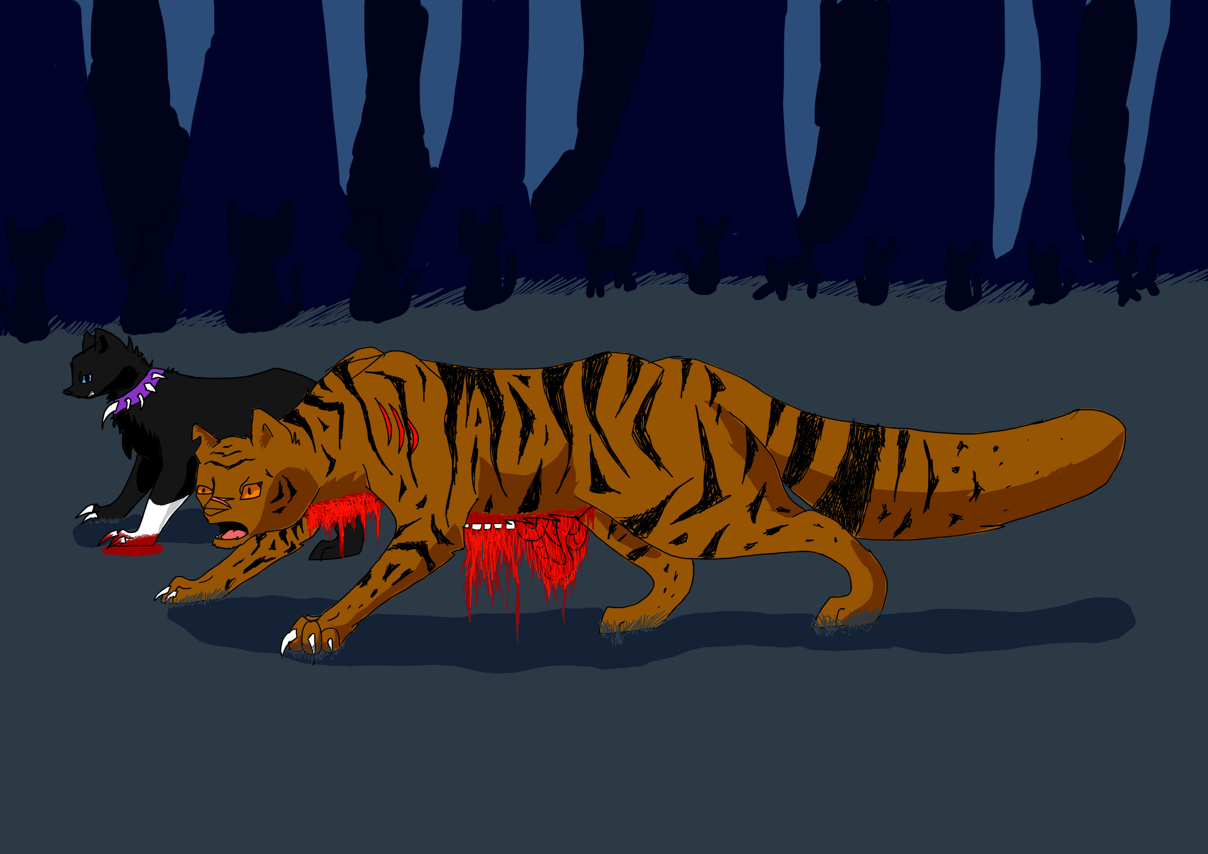 warrior cats images tigerstars death hd wallpaper and background