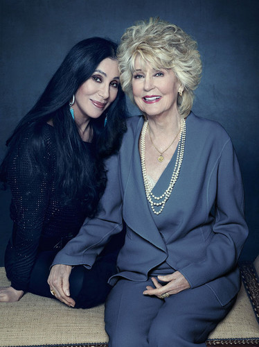 Cher দেওয়ালপত্র possibly with a well dressed person and a business suit entitled ☆ Cher & her mom, Georgia Holt ☆ ღ