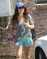 [HQ] May 14th - Leaves the Gym in Santa Monica, California - lucy-hale photo