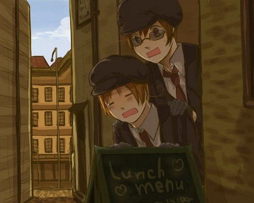 Hetalia wallpaper containing a street titled ~Italy and Romano~
