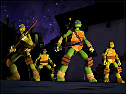 2012 Teenage Mutant Ninja Turtles 壁紙 containing a navy seal, a rifleman, and a green ベレー, ベレー帽 entitled ★ TMNT ☆