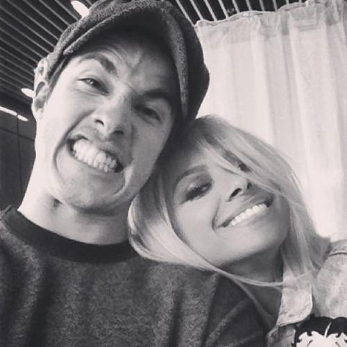 @michael_trevino: Me n katgraham actin foolish in Melbourne. toi guys have been a lot of fun today