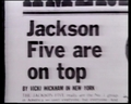 A Newspaper Clipping Pertaining To The Jackson 5 - michael-jackson photo