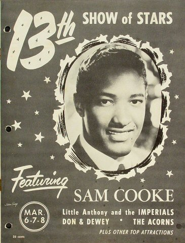 A Vintage konser Poster From The Late-50's
