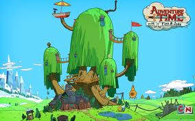 ADVENTURE TIME pohon HOUSE