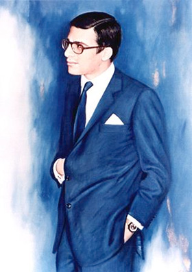 Alexander S. Onassis (painting by Michalis Vafiadis)