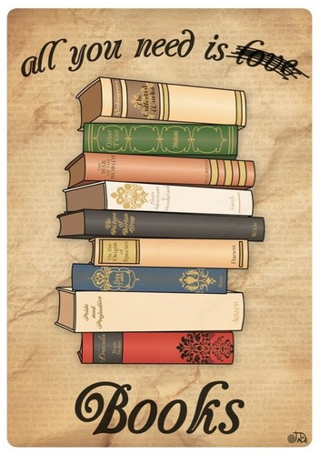 Books to Read wallpaper entitled All u need is books