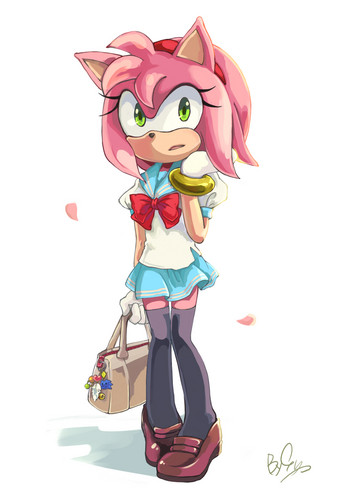 Sonic the Hedgehog wallpaper possibly with a bonnet entitled Amy Rose